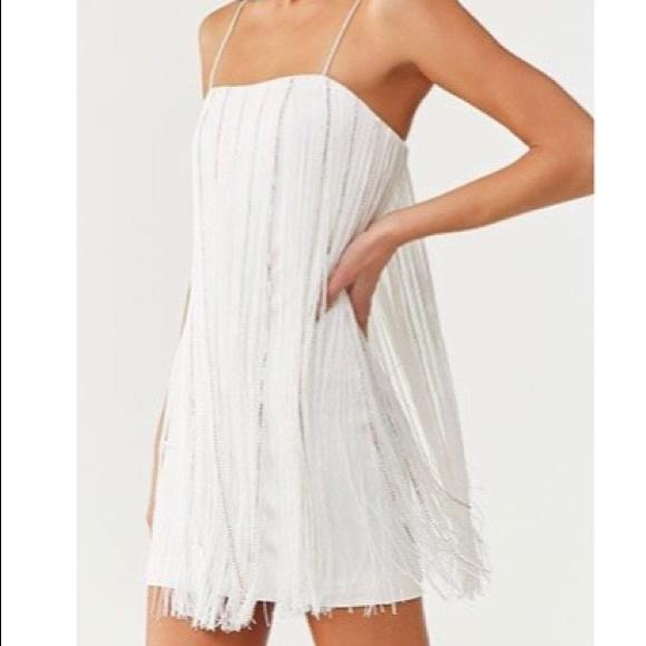 NWT Rhinestone Fringe Dress